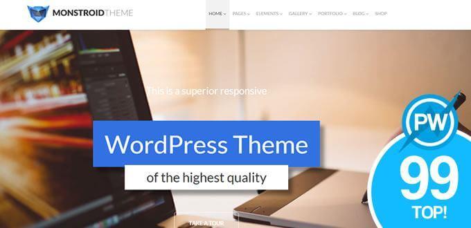 monstroid plantilla wordpress