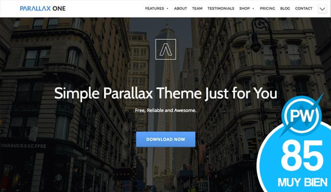 plantilla gratuita wordpress parallax one