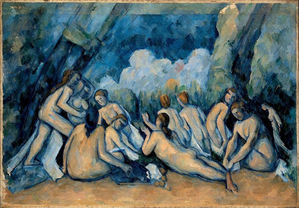 Las grandes bañistas - Paul Cézanne.