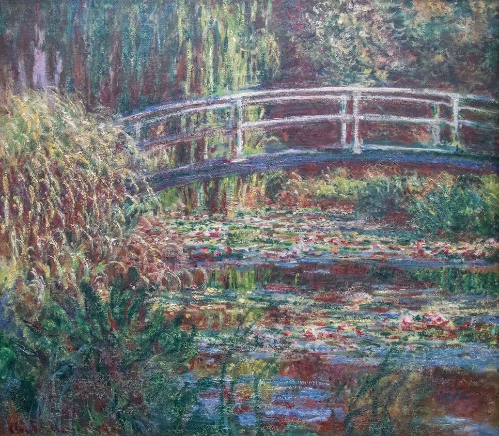 Le Bassin aux nymphéas, harmonie rose - Claude Monet